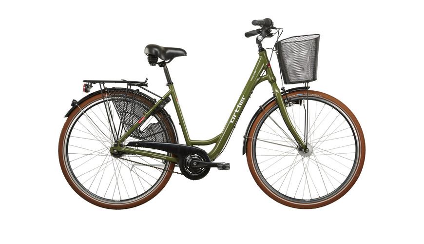 Ortler Lillesand Rower miejski Kobiety 7-biegów oliwkowy